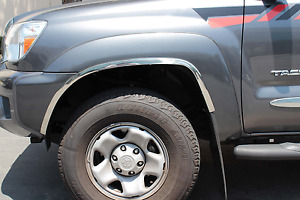 2005 2013 Toyota Tacoma With Oem Flares Stainless Steel Fender Trim
