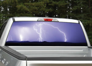 Lightning Storm Purple Rear Window Decal Graphic For Truck Suv