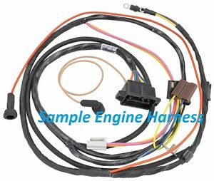 69 Chevelle Engine Harness Points Distributor 396 Engines Factory Gauges