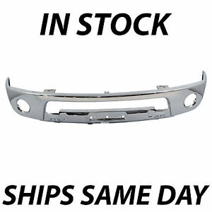 New Steel Chrome Front Bumper Face Bar For 2005 2017 Nissan Frontier W Fog