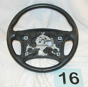 93 96 Firebird Gray Leather Wrapped Factory Steering Wheel Nice