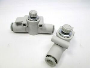 Lot Of 2 New Smc As3002f 09 Pneumatic Air In line Flow Control Valve 5 16 Od