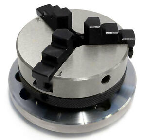 3 Jaw Self Centering Lathe Chuck 50 Mm With Backplate For Rotary Tables