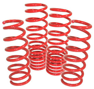2007 2011 Ford Mustang Cobra Jet Performance Race Lowering Lower Spring Kit Red