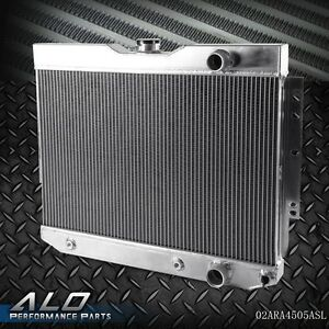 New Racing Aluminum Radiator For Chevy Impala 1959 1963 1960 1965 Belair Pro