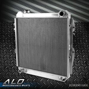 Aluminum Radiator For 1988 1995 Toyota 3 0l Pickup 4runner V6 4wd Silver