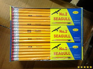 Pencils Pre sharpened No 2 144 box 12 Boxes Of 12 New Improved Eraser