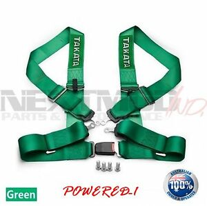 Takata Green 4 Point Drift Iii Seat Belt Racing Harness Cams 2021 Jdm Free Gift