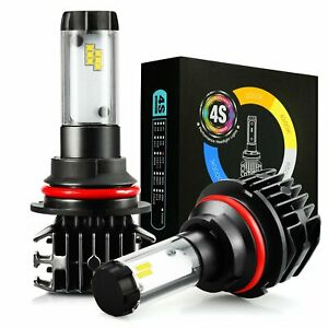 2x 4s 10000k Zes Chips 9007 Hb5 Extremely Bright Led Headlights Fog Light Bulbs