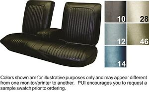 1968 Oldsmobile Cutlass Supreme Coupe Front Rear Seat Covers Pui