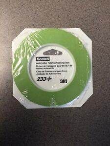 3m 26343 1 8 Scotch Automotive Performance Masking Tape 233 Green 10 Rolls