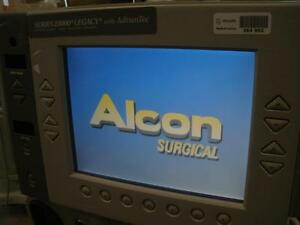 Alcon Legacy 20000 Phacoemulsifier Monitor Screen