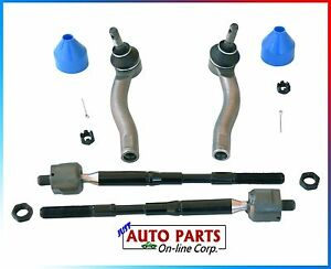 4 Inner And Outer Tie Rod End Kit Toyota Corolla 2003 2008 1 8l L4 Rack Ends New