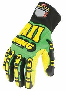 Kong Hi Vis Cut Resistant Impact Protection Gloves Oil And Gas Medium Xxl