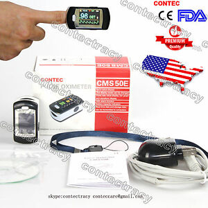 Us Fingertip Pulse Oximeter Fda Certified Spo2 Monitor Oled Software alarm usb