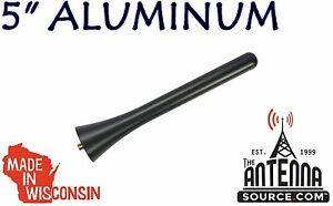 Short 5 Black Billet Aluminum Antenna Mast Fits 2010 2014 Ford Mustang