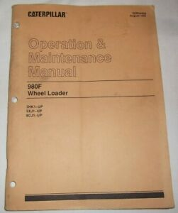 Cat Caterpillar 980f Wheel Loader Operation Maintenance Book Manual 3hk 5xj
