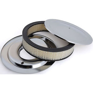 Rpc R8001 Round Muscle Car Style Top Air Cleaner Set 14 X 4 Flat Base