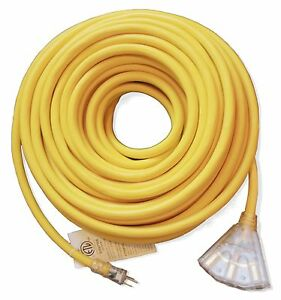 100ft Heavy Duty 10 Gauge Lighted 3 Outlet Extension Cord 100 10 3 Outdoor Sjtw