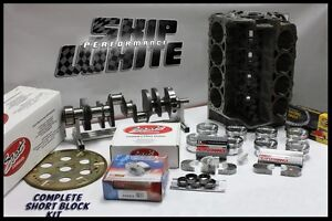 Sbc Chevy 383 Short Block Kit Forged 24cc Dish 4 030 Pistons Scat Crank Rods