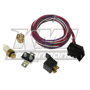 New Electric Cooling Fan Wiring Install Kit 200 125 Thermostat 20 30 Amp Relay