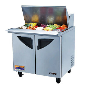 Turbo Air Tst 36sd 36 inch Refrigerated Sandwich Salad Prep Table