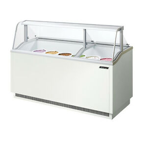 Turbo Air Tidc 70w 70 inch Ice Cream Dipping Cabinet White