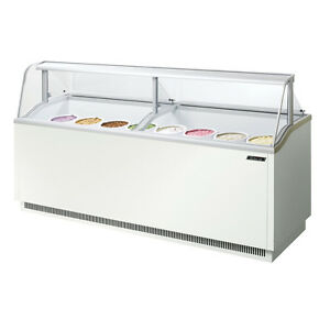 Turbo Air Tidc 91w 91 inch Ice Cream Dipping Cabinet White