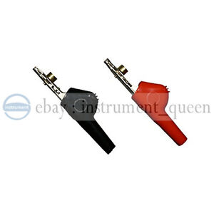 Alligator Clip Bed Nail And Single Spike Angled Nose Large Test Cables