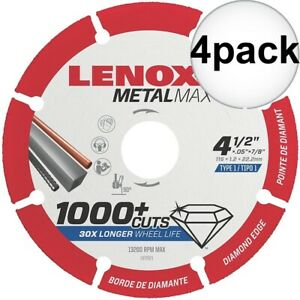 4pk 4 1 2 X 7 8 Metal Max Diamond Saw Blade Lenox 1972921 New