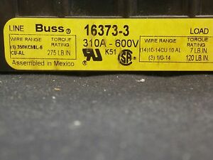 Bussman 16373 3 Conn Barrier Strip 3 Pos 41 14mm Screw St Panel Mount