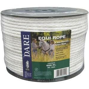 2 Pk Dare 600 Equine 1 4 Dia 628 Electric Fence 7 Steel Strand Poly Rope 3094