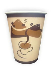 Safepro 12v 12 Oz Coffee Beans Paper Cups 1000 cs
