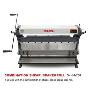 Kaka Industrial 30 inch Sheet Metal Brake Shears And Slip Roll Machine