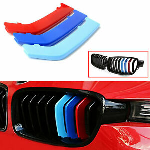 M Color Front Kidney Grille Rails Trim Cover For Bmw F30 F31 320 328 335 2012 up