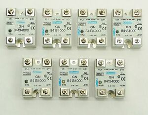 Lot 7 Crouzet Gn Series 84134000 Solid State Relay 10a 24 280vac 3 32vdc