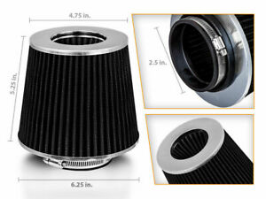 2 5 Cold Air Intake Dry Filter Black For Tornado Utility Wagon Willys Truck