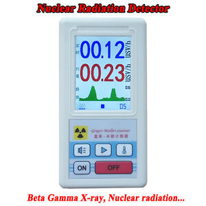 Geiger Counter Nuclear Radiation Detector Beta Gamma X ray Gm Tube Dosimeter