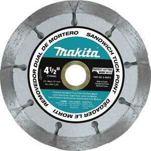 Makita A 95912 4 1 2 Dual Sandwich Diamond Tuck Point Blade New