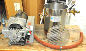 Rietschle Vacuum Pump Vca 15 With Mass vac Vacuum Stainless Chamber