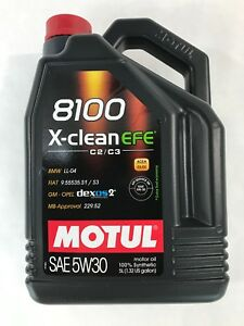 107206 Motul 8100 X Clean Efe 5w30 100 Synthetic Performance Engine Oil 5 Liter