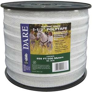 Dare 1 1 2 Wide X 656 Long Electric Fence 5 Strand Steel Poly Tape 2576n