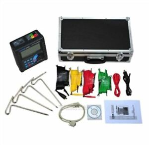 Meter Earth Resistance Soil Resistivity Tester Digital Etcr3000b New Kf