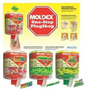 Moldex 0604 Uncorded Ear Plugs 33db Rated Disposable Bullet Shape Pk 750