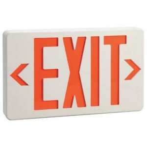 Lumapro Thermoplastic Led Exit Sign With Battery Backup