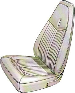 1970 Plymouth Duster 340 Front Buckets Seat Covers Pui