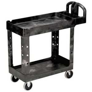 Utility Cart 500 Lb Load Cap pe Rubbermaid Fg450088bla