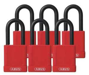Lockout Padlock ka red 1 3 4 h pk6 Abus 74 40 Kax6 Red