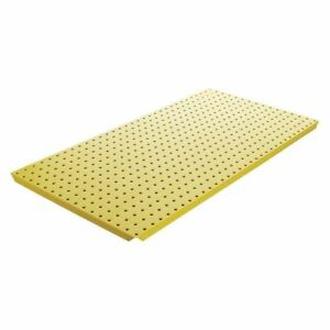 Pegboard 16in hx32in w metal yellow pk2