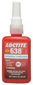 Retaining Compound 50ml 4500 Psi 0 010in Loctite 638 Loctite 1835936